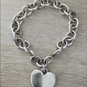 Classic Cable Charm Bracelet with Heart